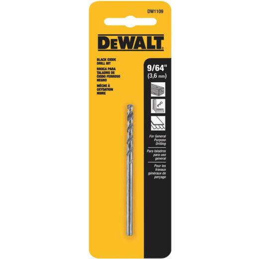 Irwin 9/64 In. Black Oxide Drill Bit